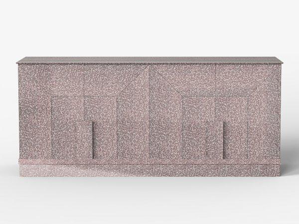 Console en cuivre texturé