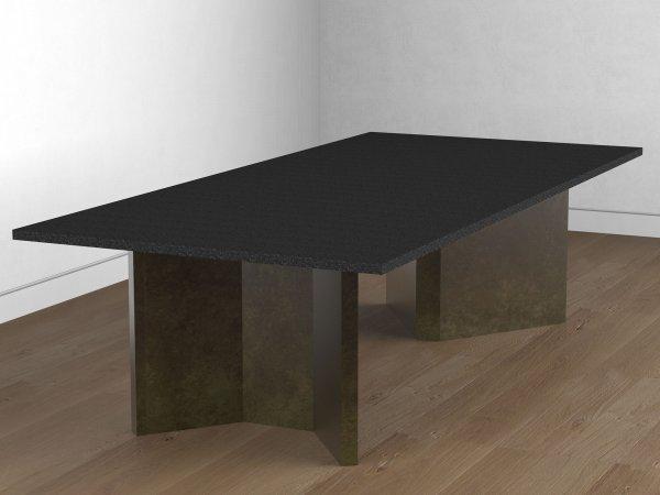 Table en laiton patiné